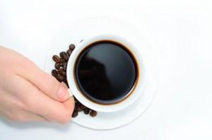 淹れたコーヒー