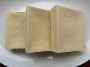 戻した高野豆腐